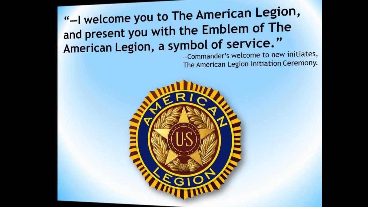 The American Legion Emblem Our Badge Of Distinction Honor And