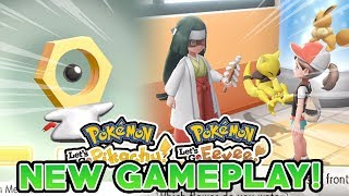 POKEMON LET'S GO PIKACHU & LET'S GO EEVEE NEW GAMEPLAY! NEW MOVES, NATURES & CATCHING MELTAN!
