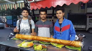 R.K Dosa camp (Shanthinagar). Large family dosa.  6 million views!