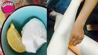 Mẹo Làm Đẹp | Cách Làm Da Trắng Nõn Với 1 Hộp Sữa Chua Và 1 Quả Chanh | Giang My Channel