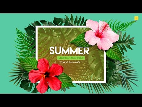 Summer | Powerpoint + Bonus ~ Presentation Templates ~ Creative Market