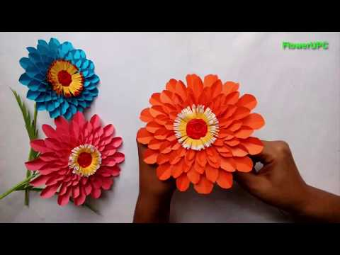 Easy way to make sunflowers - How to make sunflower(Sunflower with paper)