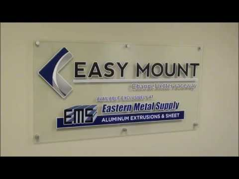 How to service EasyMount Channel Letter Raceway (patented)