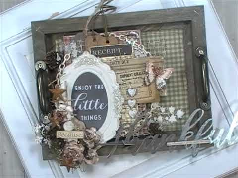 Country Rustic Wood Shadowbox Tray (DT Project for Reneabouquets.com)
