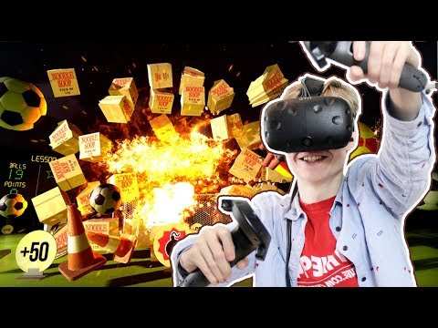 EXPLOSIONS, BEACHBALLS AND NOODLES! | Headmaster VR (HTC Vive Gameplay) #2