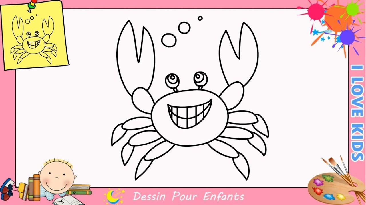 Coloriage Crabe Dauphin.Comment Dessiner Un Crabe Kawaii Facilement Pour Enfants 1 Youtube