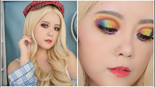 ???? 只要你肯坚持、你也可以做出一道彩虹 【化妆教学】