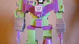 G1 Papercraft Cartoon Devastator