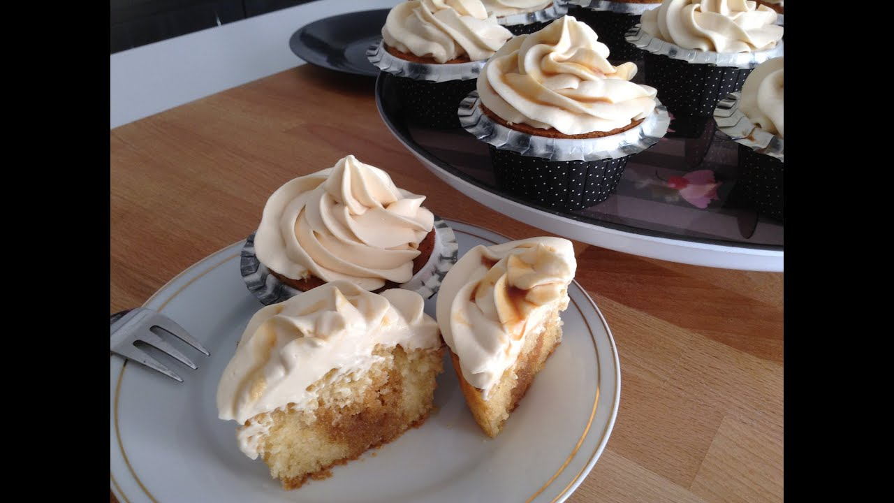 Recette facile et rapide cupcakes au caramel beurre sal et gla age au mascarpone youtube - Recette caramel beurre sale breton ...