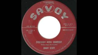 jimmy scott everybody needs somebody great 50 s mid tempo jazz rock and roll crossover