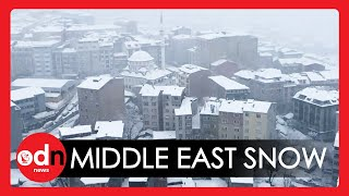 Middle East Covered in Exceptionally Rare Snow After Extreme Weather