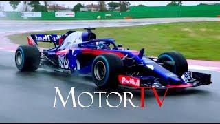 MOTORSPORT : F1 2018 l TORO ROSSO HONDA STR13 LAUNCH l Shakedown run & Interviews