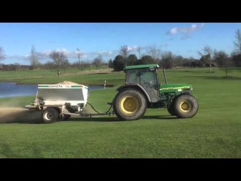Top Dressing of Fairways and Walk On Walk Off areas. February 2016