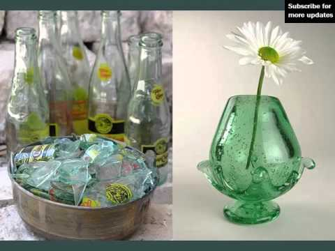 Recycled glass bottle art set of pictures ideas youtube for Ideas to recycle glass bottles
