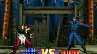 Part2 All Fights Straight with Iori Kof98 CPU130 Level8