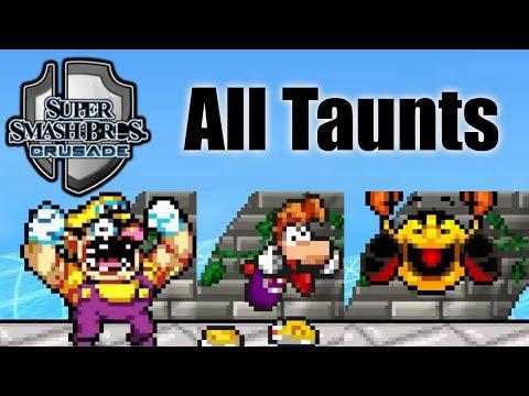 Super Smash Bros Crusade V0.9.1 - All Taunts