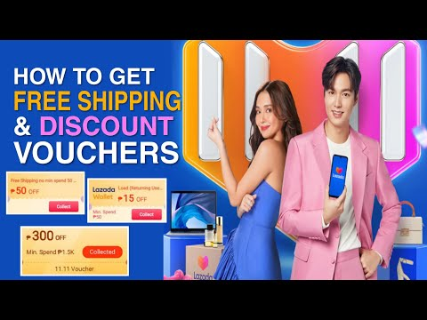 LAZADA 11.11 Free Shipping and Discount Vouchers | Easy way to CLAIM | Discount up to 50% OFF!!