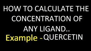 how to calculate concentration using extinction coefficient