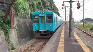 きのくに線105系 見老津駅発車