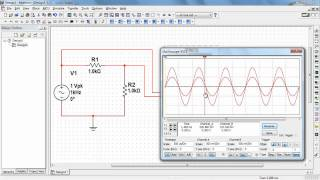 NI Multisim: Waveform cursor measurements with the two-channel oscilloscope
