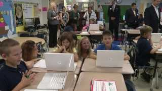 High Point Elementary Gets A Penguin...And A ST Math Grant