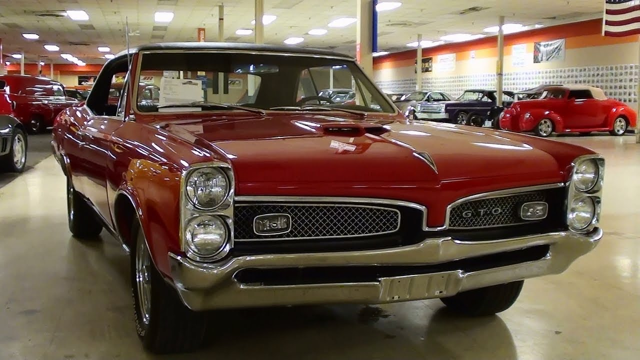 1967 Pontiac Gto 400 V8 Four Speed Muscle Car Youtube