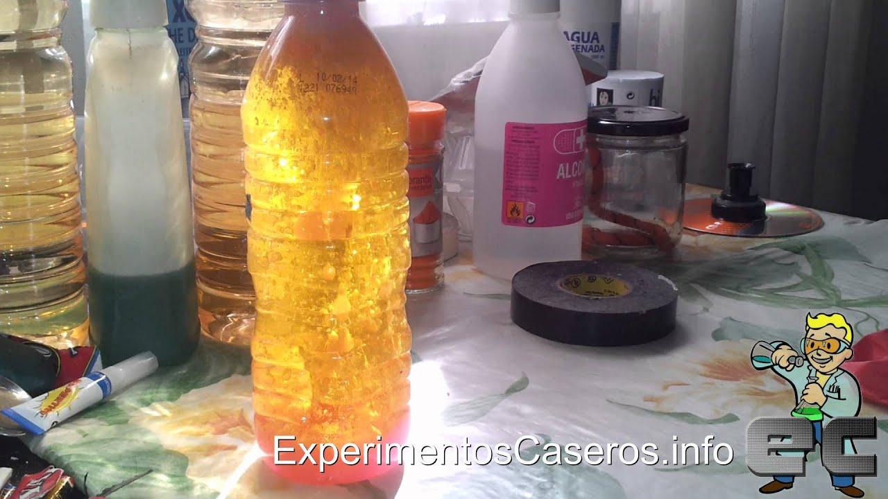 C mo hacer una l mpara de lava casera experimentos - Como hacer una lampara de mesa casera ...
