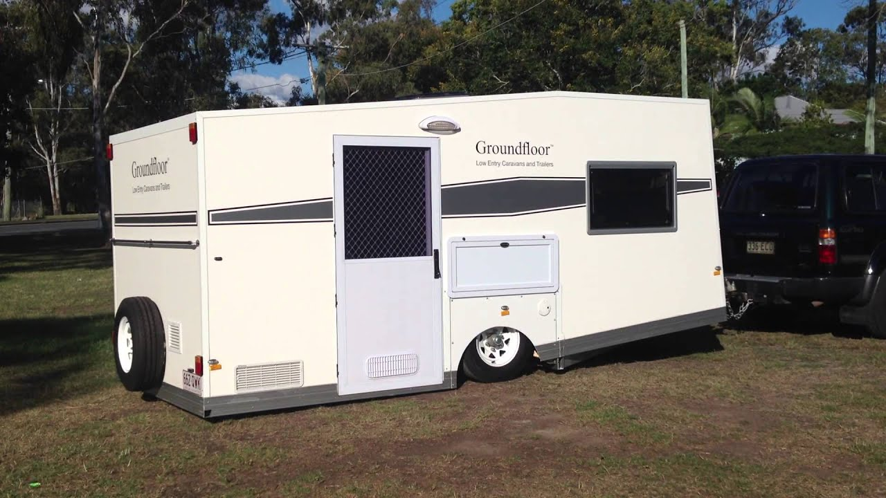 Groundfloor caravan lowering low entry caravans and Handicap wheelchair