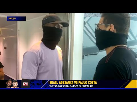 OH! Israel Adesanya & Paulo Costa Bump Into Each Other On Fight Island Before UFC 253 Fight