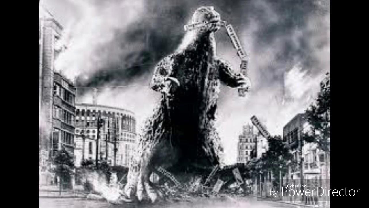 Dibujos Godzilla Raids Again 1955 Para Colorear: Godzilla 1955 Serie Blanco Y Negro