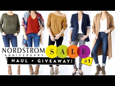 Nordstrom Anniversary Sale 2017 HAUL Pt.1 + Giveaway (closed) | Try on clothing haul | Miss Louie