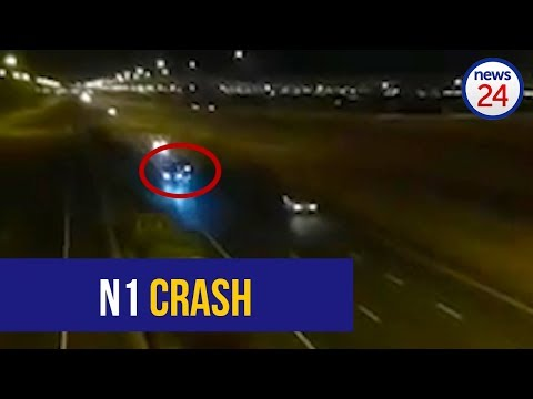 WATCH: Man critical after BMW smashes into lane divider in Cape Town