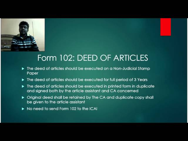 103 icai pdf form