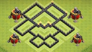 Clash of Clans - AIR SWEEPER DEFENSE STRATEGY - Townhall Level 6 Farming (TH6 Defense Strategy)