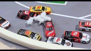 Stop Motion NASCAR: Kansas' crazy Double OT like you've never seen before