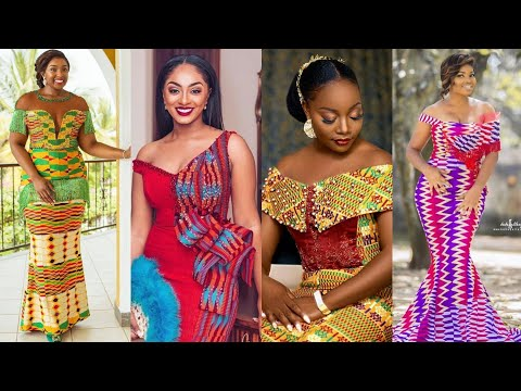 2019 Ghana Wedding Dresses Kente Ankara Trendy Styles African Fashion Youtube