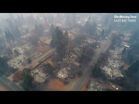 #Campfire: Aerial tour of Paradise, California destruction