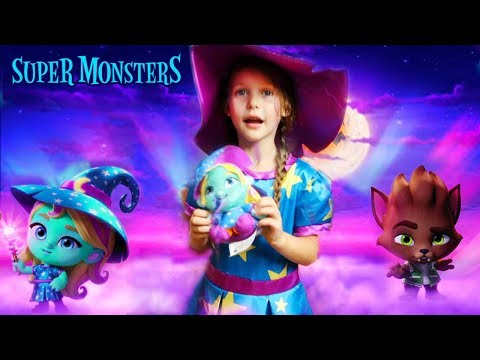 Halloween Pretend Play Carnival Toy Surprise with Netflix Super Monsters