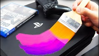 PAINTING a NEW PS4! Modern Warfare CUSTOM! (GIVEAWAY)