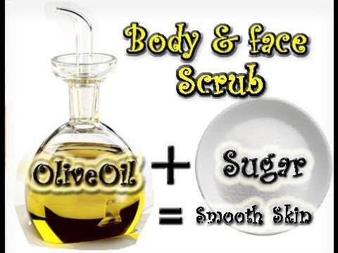 Homemade Sugar Olive Oil Face Body Scrub Youtube