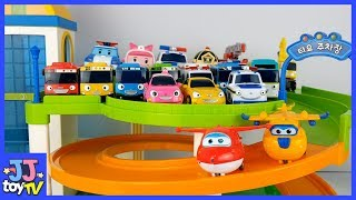 Little Bus Tayo  Parking Toy And Super Wings Friends Toys Paly [Jjtoy Tv]