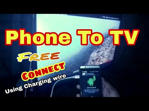 How To Connect Phone To TV Using USB Data Cable Only USB Support Phone (Using Charging Wire)