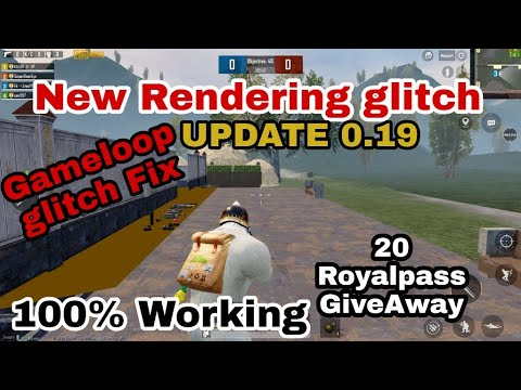 [PART 1] Gameloop (Pubg 0.19) Render Glitch FIX | New Method 100% working | 20 RP Giveaway | [HINDI]