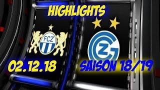 Highlights: Fc Zürich vs Grasshopper Club Zürich (02.12.18)
