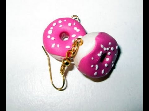 d i y tuto fimo boucles d 39 oreille donuts en fimo tres facile youtube. Black Bedroom Furniture Sets. Home Design Ideas