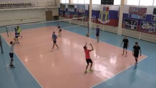 Обучение волейболу. Упражнения на отработку верхней и нижней передачи тройками