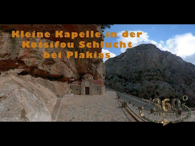 Kleine Kapelle in der Kotsifou Schlucht bei Plakias   Kreta Crete 2021 VR360 4K