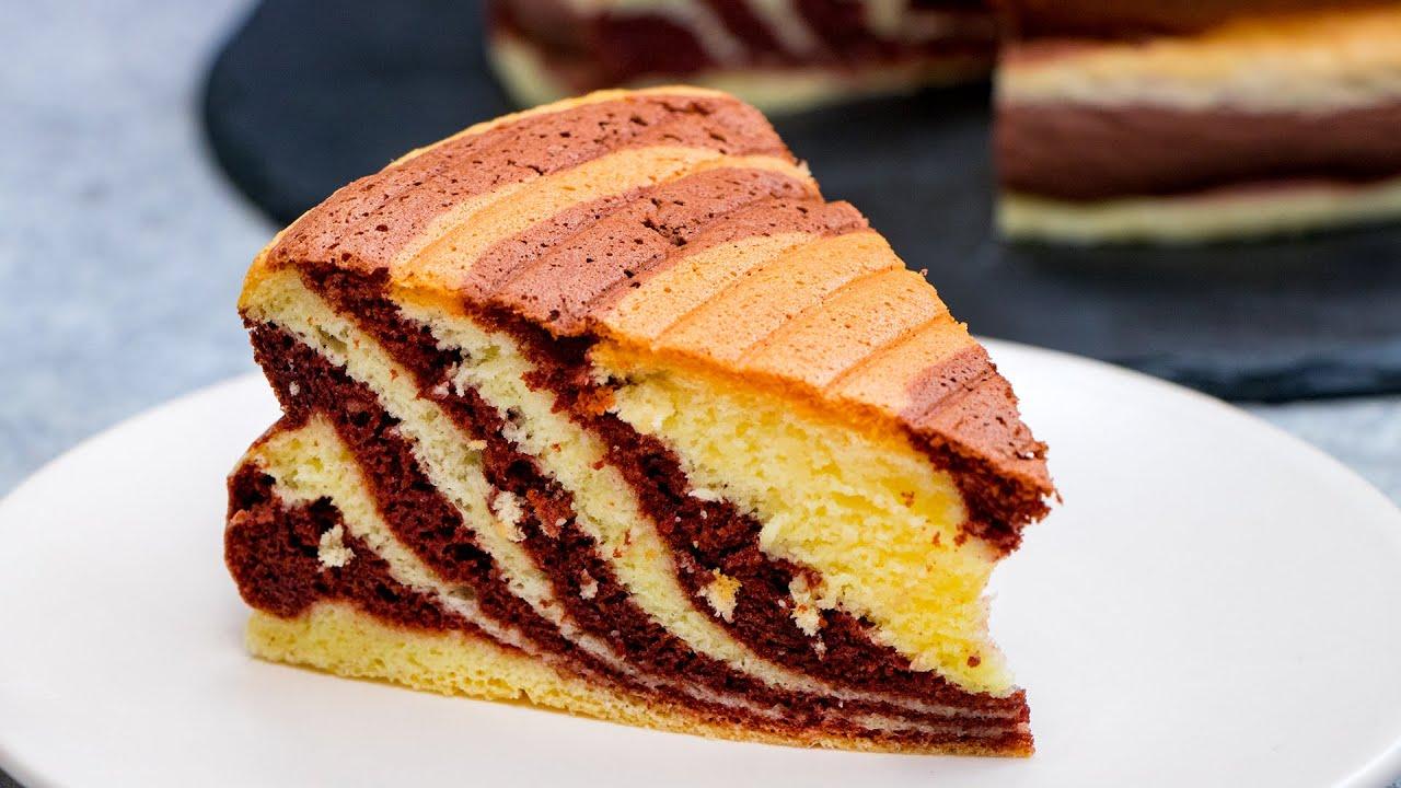 Piękny keks ZEBRA - pyszny, miękki i lekki! | Cookrate - Polska