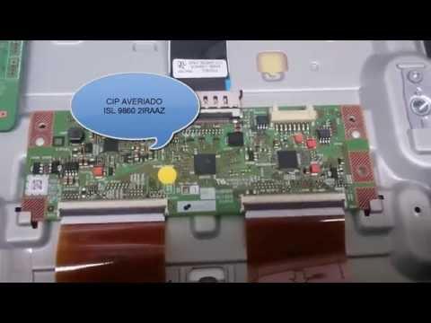 Samsung UE32F Serie RUNTK 5351TP 0055FV Problema con el cip ISL 9860 2IRAAZ