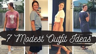 What I Did and Wore in Virginia Beach with NO KIDS | Modest Mennonite Outfit Ideas